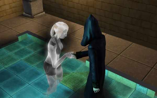 dilly dally girl's room the sims grim reaper ghost