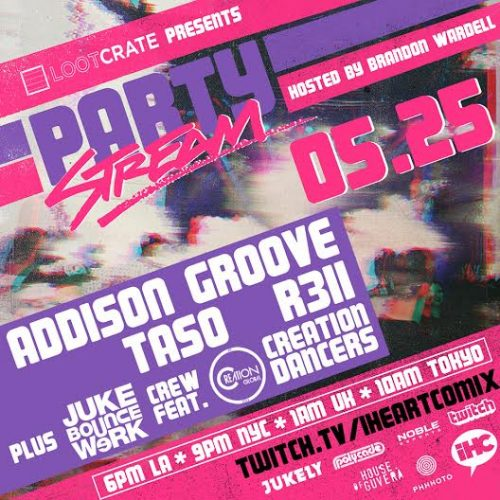 party stream 3 addison groove footwork square