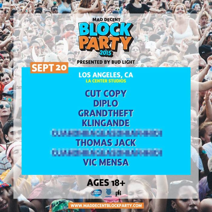 mad decent block party sept 20 2015 Los Angeles
